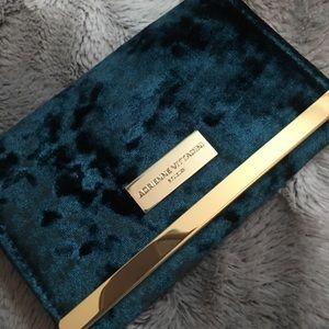 Adrienne Vittadini green velvet wallet